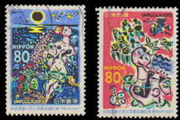 Japan Scott #2598-2599, set of 2 (1997) Kyoto Conference on Climate Change, Used