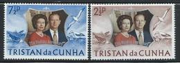 """Tristan Da Cunha     """"Silver Wedding""""    Set     SC# 178-79   MNH** - Tristan Da Cunha"""
