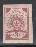 Latvia     Scott No  25   Unused Hinged     Year  1919    Wmk 108 - Lettland