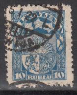 Latvia     Scott No   108   Used    Year  1921 - Lettland