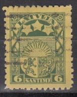 Latvia     Scott No   117   Used    Year  1923 - Lettland