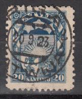 Latvia     Scott No   121   Used    Year  1923 - Lettland