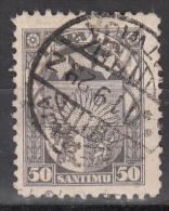 Latvia     Scott No   125   Used    Year  1923 - Lettland