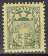 Latvia     Scott No   141     Unused Hinged    Year  1927 - Lettland