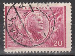 Latvia     Scott No   203     Used   Year  1938 - Lettland