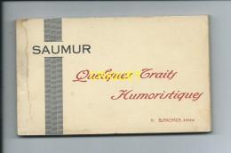 49 Saumur, Beau Carnet Complet De 24 Cartes, Quelques Traits Humoristiques, ( Ecole De Cavalerie) éd Blanchaud - Saumur