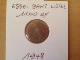 Pièce De 50 Cts ESSAI Sans Listel De Nouvelle Calédonie Année 1948 !! - Nouvelle-Calédonie