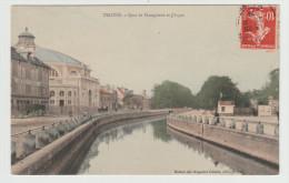 TROYES - Quai De Dampierre Et Cirque - édit. Maison Des Magasins Réunis, Colorisée - Troyes