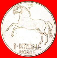 ★HORSE★ NORWAY★ 1 KRONE 1972!  LOW START ★ NO RESERVE! - Norvège