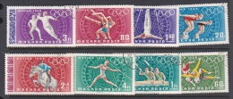 Hungary 1968 Mexico Olympic Games Used Set - Summer 1968: Mexico City