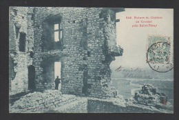 DF / 07 ARDÈCHE / SAINT PÉRAY / RUINES DU CHÂTEAU DE CRUSSOL / CIRCULÉE EN 1905 - Saint Péray
