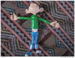 GASTON LAGAFFE Bouche Rose Sourire FRANQUIN Quick Spirou Publicité Rare Dupuis Marsu 1998 Figurine Flexible Bendable - Advertisement