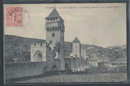 - CPA 46 - Cahors, Le Pont Valentré Et L'Ermitage - Demeure De La Famille Gambetta - Cahors