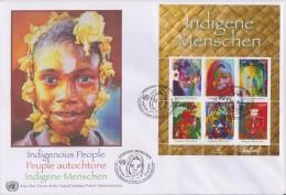 United Nations FDC Block 29 Indigenous Peoples Polynesia - Tanzania - Malaysia - Namibia - 2010 - FDC
