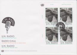 United Nations FDC Mi 765 - World Radio Day - Radio - Cancellation Vienna - Block Of 4 - 2013 - FDC