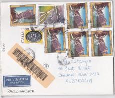 Italy 1998 Registered Cover, Lire 6.900 Sent To Australia - 6. 1946-.. Republic