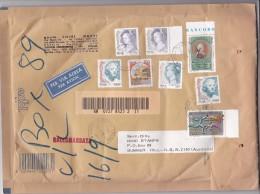 Italy 1998 Registered Padded Bag, Lire 8,150, Sent To Australia - 6. 1946-.. Republic