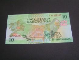 COOK ISLANDS TEN DOLLARS A/UNC; - Cook Islands