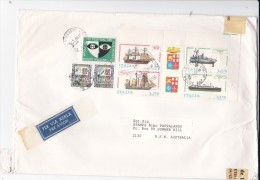Italy 1999 Large Cover, Lire 8.700, Sent To Australia - 6. 1946-.. Republic
