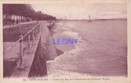 CPA  De  SAINT NAZAIRE  (44) - Le  Bord De Mer Et Le Boulevard Du Président Wilson  - N° 103 - Saint Nazaire