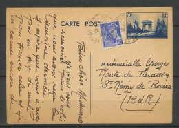 LETTRE-1796-Bouches Du Rhone- Carte Postale Entier Arc De Triomphe Istres Pour Saint Remy De Provence 1930 - 1921-1960: Periodo Moderno