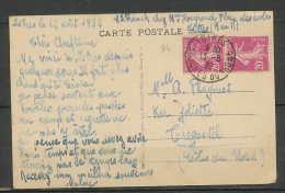 LETTRE-1793-Bouches Du Rhone- 190 Semeuse X2 40c Carte Postale Vue Générale Istres Pour Trégastel Bretagne 1/8/1932 - 1921-1960: Periodo Moderno