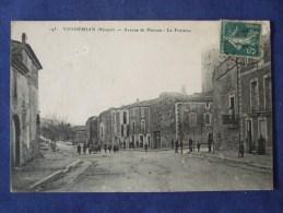 VENDEMIAN Avenue De Plaissan La Fontaine 1911 - Autres Communes