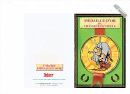 Double Carte ASTERIX - Médaille D'Or - CHASSEUR DU SIECLE - Sanglier - Cómics