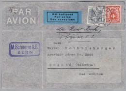 Schweiz 1937-07-15 Wabern Flugpost Brief Nach Bogota Columbien - Svizzera