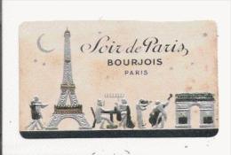 SOIR DE PARIS DE BOURJOIS PARIS CARTE PARFUMEE ANCIENNE (GAUFFREE ARGENTEE DOREE) - Vintage (until 1960)