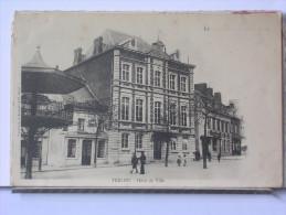 59 - TRELON - HOTEL DE VILLE - ANIMEE - DOS SIMPLE - Autres Communes