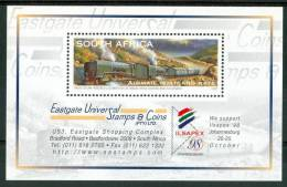 "1997 Sud Africa ""Capetown 97"" Treno Blu Trains Railways Block MNH** Spa110 - Blocchi & Foglietti"