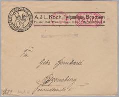 MOTIV TEE 1922-11-25 Bremen Illustrierter Brief Teekoch Gegr. 1852 Brief Nach Regensburg - Alimentation