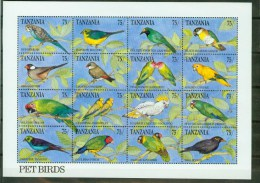 Tanzania 1991,16V In Sheetlet,birds,vogels,ois Eaux,vögel,MNH/Postfris, (L1584) - Unclassified