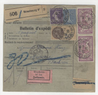 Frankreich Michel No. 168 , 181 , 216 auf Paketkarte