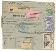 Frankreich Michel No. 181 , 240 , 241 auf Paketkarte