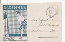 CARTE ANCIENNE PUBLICITAIRE BAS DE SOIE DORA 1922(ILLUSTRATION) - Publicité