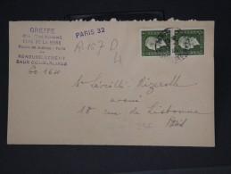 FRANCE- TYPE DULAC SUR  CONVOCATION DU TRIBUNAL EN RECOMMANDE DE PARIS POUR PARIS EN 1945  A VOIR   LOT P3236 - 1944-45 Maríanne De Dulac