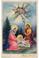 BUON NATALE TEMATICA AUGURI NATALE ANGELI GUSU' MARIA S.GIUSEPPE ANNI/40/50 - Natale