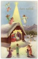 BUON NATALE TEMATICA AUGURI NATALE ANGELI PRESEPE ANNI/50 - Natale