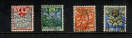NEDERLAND GEBRUIKT USED OBLITERE YVERT NR 186 188 187 189 NVPH 199 200 201 202 - 1891-1948 (Wilhelmine)
