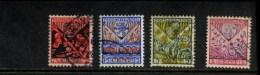 NEDERLAND GEBRUIKT USED OBLITERE YVERT NR 195 196 197 198 NVPH 208 209 210 211 - 1891-1948 (Wilhelmine)