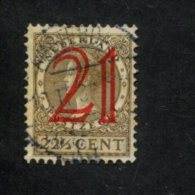 NEDERLAND GEBRUIKT USED OBLITERE YVERT NR 222 NVPH 224 - 1891-1948 (Wilhelmine)