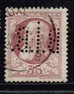 Belgien 1893, Michel# 28 A O Mit Perfin B.i.B. - 1884-1891 Leopold II.