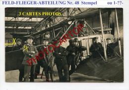 F.F.A.48-FELDFLIEGER Abtlg. 48 Od 1-PILOTES-AVION-Aviation-FLIEGEREI-3xCp Photos All.-Guerre 14-18-1 WK-MILITARIA-Feldpo - 1914-1918: 1a Guerra