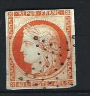 """YT 5 """" Cérès 40c. Orange """" 1850 étoile De Points - 1849-1850 Cérès"""