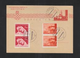 Croatia Stationery 1944 Petrinja - Kroatien
