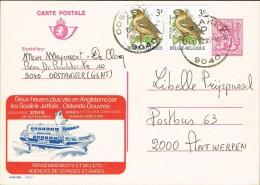 Belgium 1983 Postal Card Oostakker - Antwerp (Belgium) Sealink Jetfoil Oostende-Douvre - Belgien