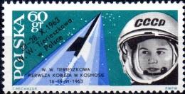 "POLAND 1963 2nd ""Team"" Manned Space Flights - 60g Tereskova & Vostok 6 MNH - Unused Stamps"