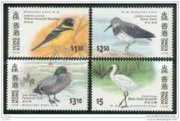 China Chine : (8) 1997 Hong Kong - Oiseaux Migrateurs SG884/7** - 1997-... Sonderverwaltungszone Der China